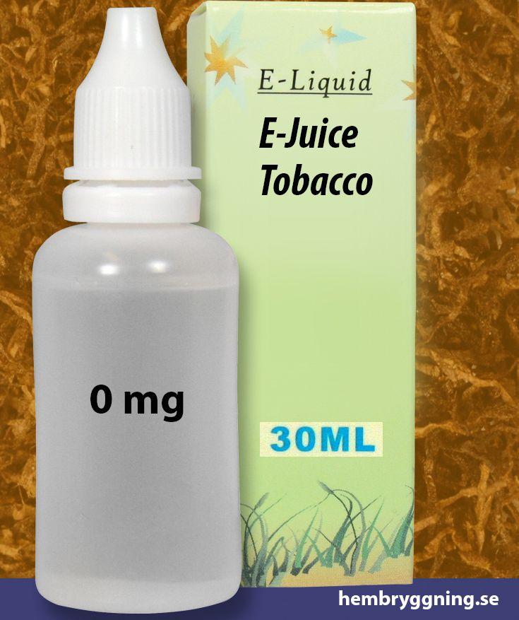 E-Juice Tobacco 30 ml. 0 mg.
