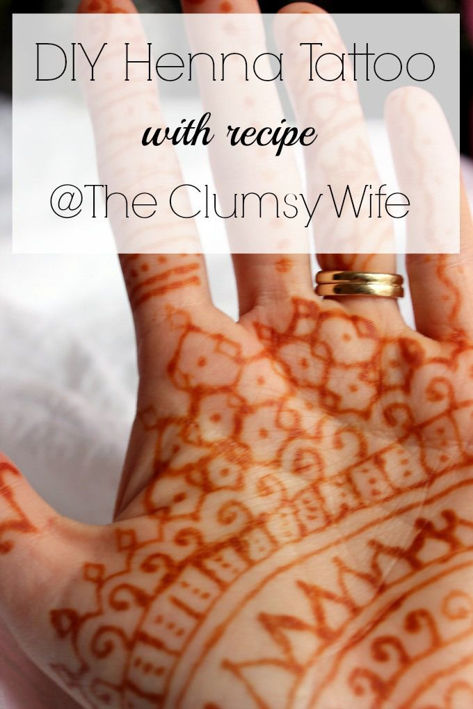 DIY Henna Tattoo with recipe The Clumsy Wife