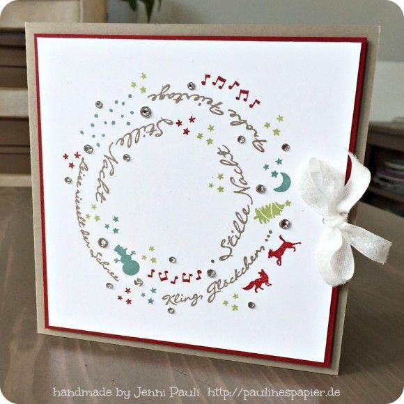 Weihnachtskarten selbst gestalten…