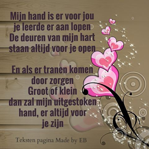 mijn hand is er voor jou