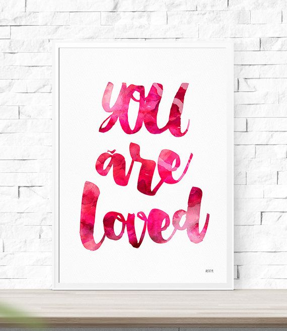 Art  Print Poster You Are Loved Typography от AristaType на Etsy