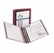 Avery Lightweight Flexi-View Presentation Binder Burgandy 1""
