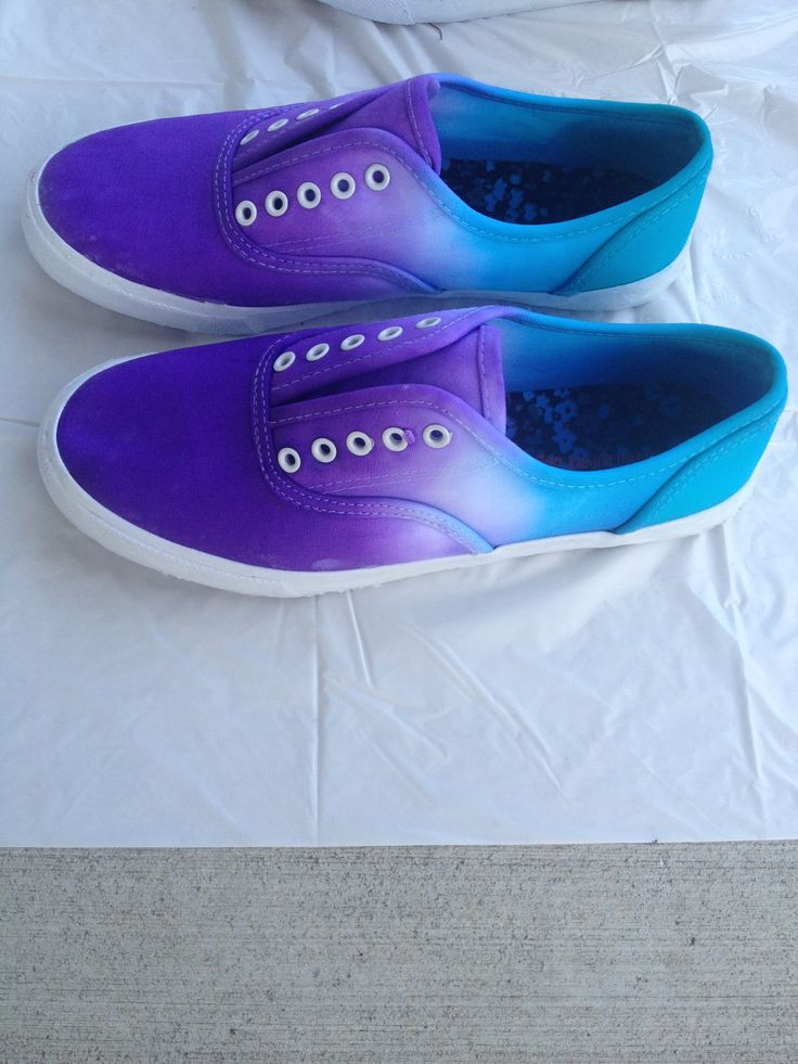 Ombré dip dyed shoes!