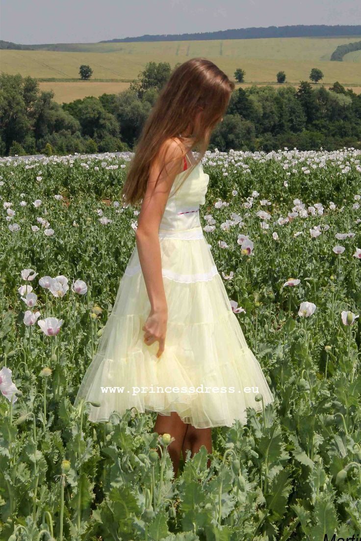 Yellow fluffy girl dress. Frenchy Grease Inspired Dress
