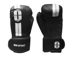Kit para lutas Muscle Shop - Luva de boxe, 2 ataduras e protetor bucal