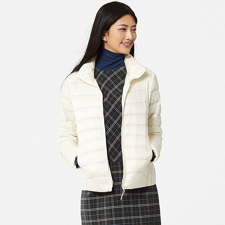 This warm down jacket is incredibly thin and lightweight. The outer lining…