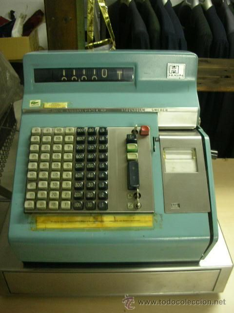 Caixa registradora antiga.