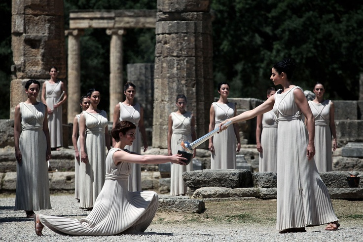 The lighting of the Olympic Flame in Ancient Olympia. What an exciting time! Want to go.