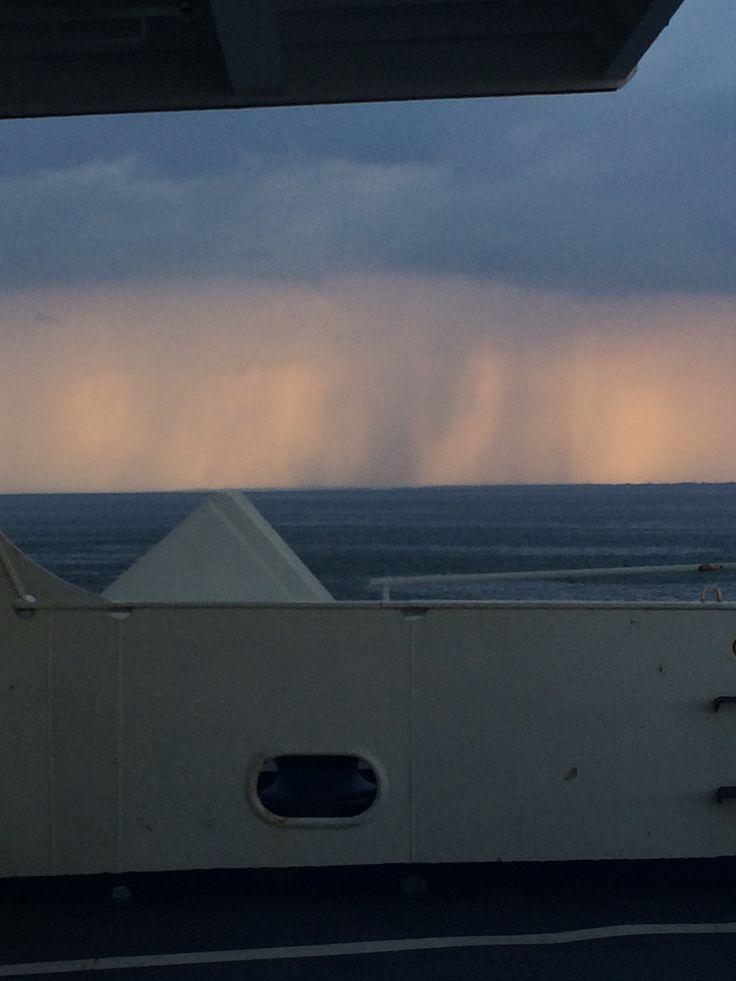 Summer rain at sea #summer #rain