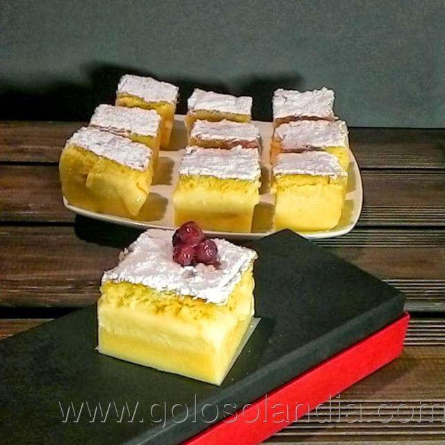 tarta de chocolate blanco ( pastel inteligente) fácil receta casera paso a paso  http://www.golosolandia.com/2013/10/tarta-de-chocolate-blanco.html