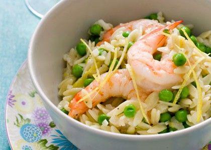 Shrimp with Tiny Peas Recipe