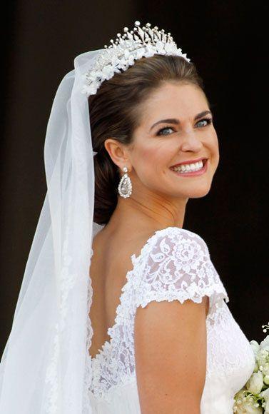 El vestido de novia de Magdalena de Suecia, al detalle