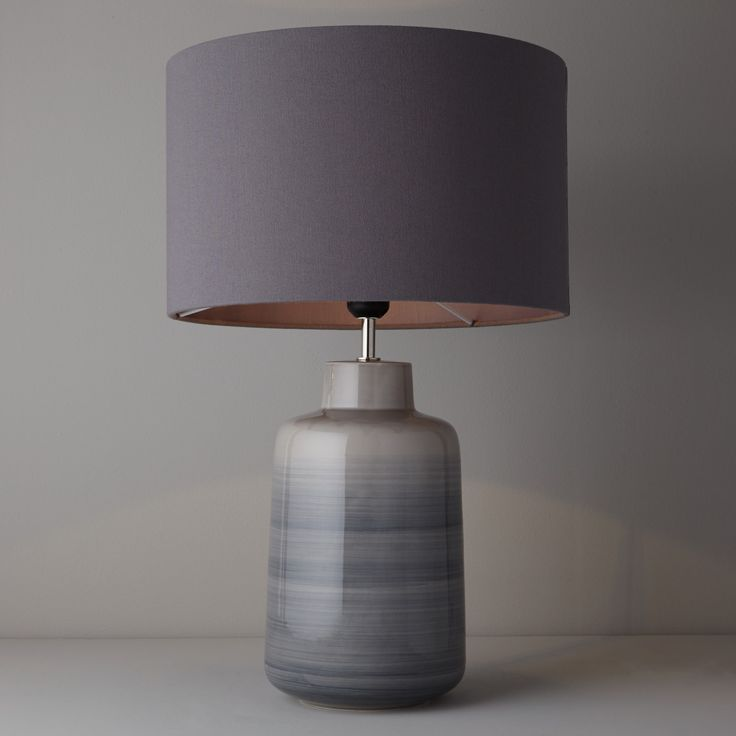 John Lewis Aditi Ceramic Table Lamp, Grey