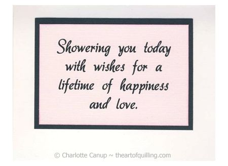 ... Card Making Pinterest Quilling, Shower quotes and Quilling cards
