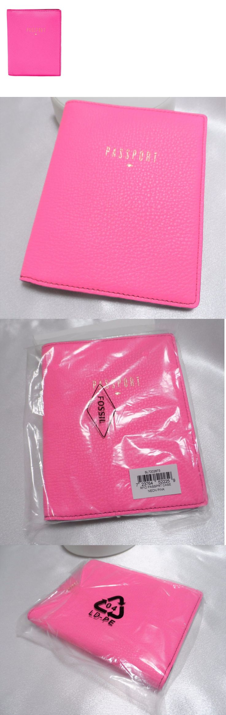 ID and Document Holders 169279: Fossil Rfid Neon Pink Travel Passport Document Id Wallet Case Nwt No Box -> BUY IT NOW ONLY: $47.99 on eBay!