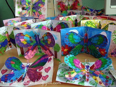 1st / 2nd / 3rd: pop-up butterflies. symmetry. spring
