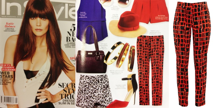 Our Graphic Pant featured in InStyle Australia May 2013.