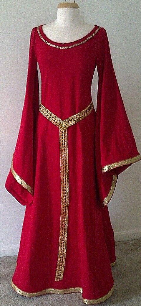 Medieval Fantasy LOTR Game of Thrones Dress Gown - Sample Sale. $150.00, via Etsy.