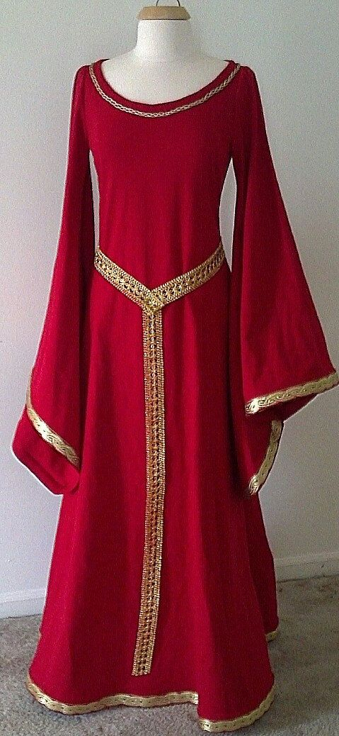 Medieval Fantasy LOTR Game of Thrones Dress Gown - Sample Sale. $150.00, via Etsy.