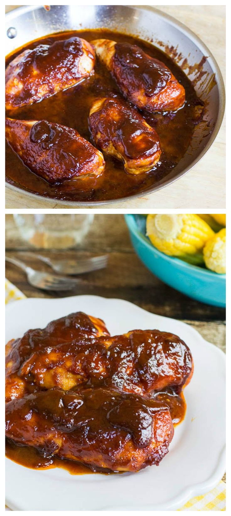 Sweet and Tangy Oven-Barbecued Chicken- the most flavorful and moist boneless bbq chicken you will ever taste!