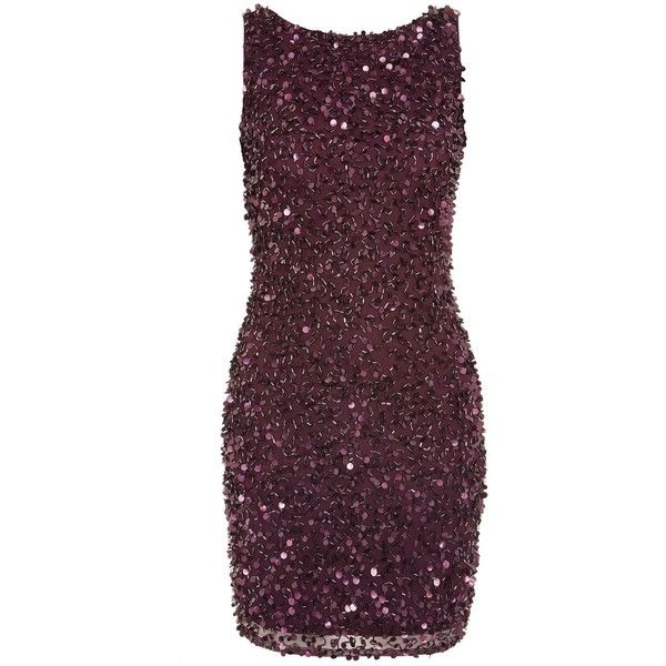 Mahir Bodycon Dress by Lace & Beads (460 BRL) ❤ liked on Polyvore featuring dresses, burgundy, purple lace cocktail dress, lace cocktail dress, sequin bodycon dress, bodycon mini dress and sequin dress