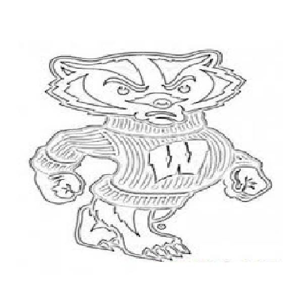 wisconsin football coloring pages - photo#7
