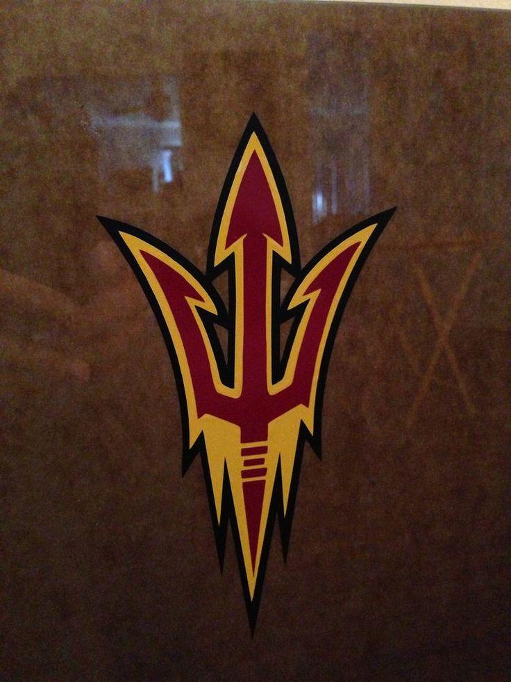07-02-02 Arizona State ASU Triton Fork Vinyl Decal Sticker  Window Pac 12 Fear #ArizonaState