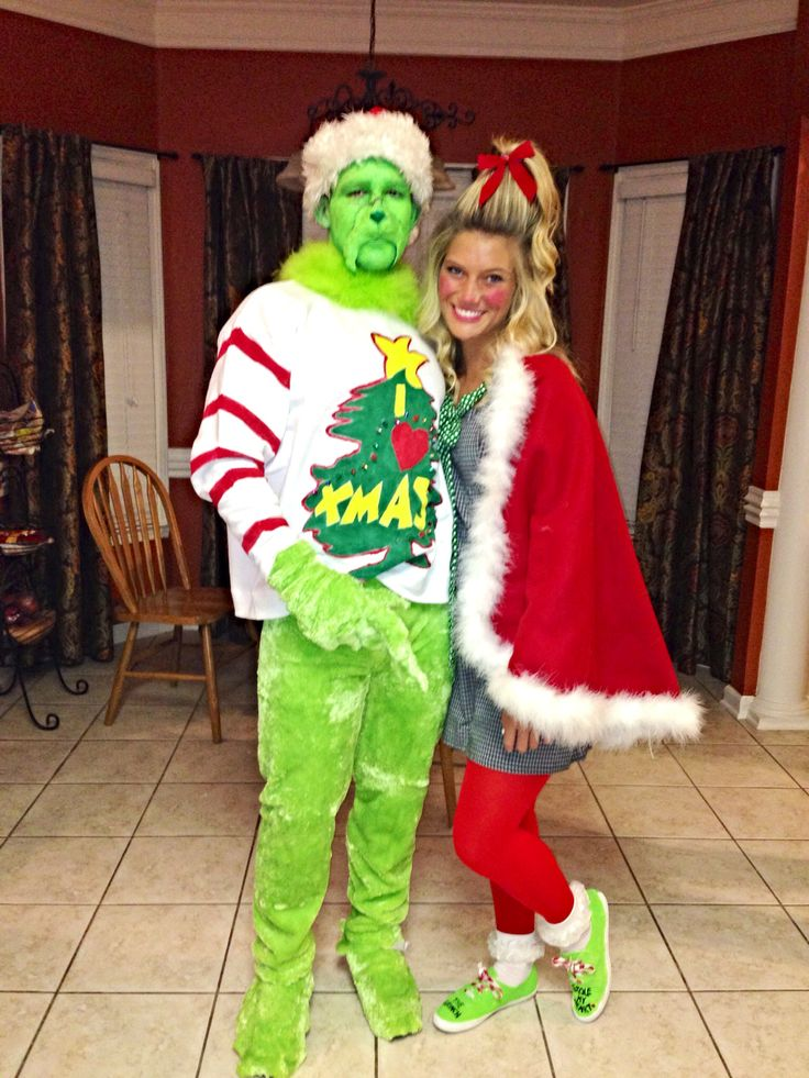 DIY Grinch and Cindy Lou Who so cute!