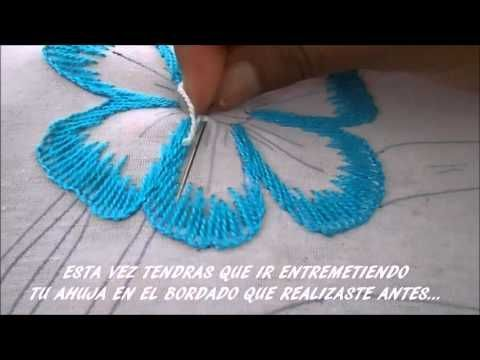 Hand Embroidery - Silk Shading - Long and Short stitch - Pansy Part 2, watch Part 1 first. - YouTube
