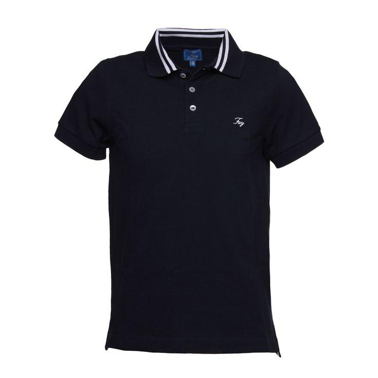 Fay Junior - Polo Blu Boy - Elegante polo blu per bambini della nuova linea di abbigliamento Bambino firmata Fay Junior - Collezione Primavera Estate 2017. #fayjunior #polobimbo #annameglio #shoponline
