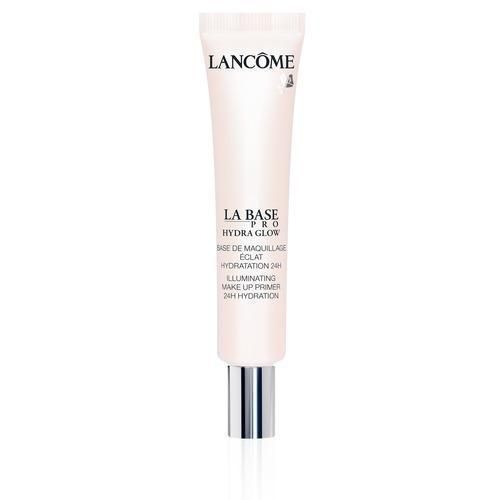 """The hyaluronic acid moisturizes and plumps the skin, the rose essence soothes it, and the two different types of pearl pigments deliver the supple dewy base that keeps me looking fresh-faced past 5 p.m. It's kind of like traveling with your own lighting crew on a daily basis."" – Kristin Booker   Lancôme Hydra Glow Illuminating Primer ($40)"