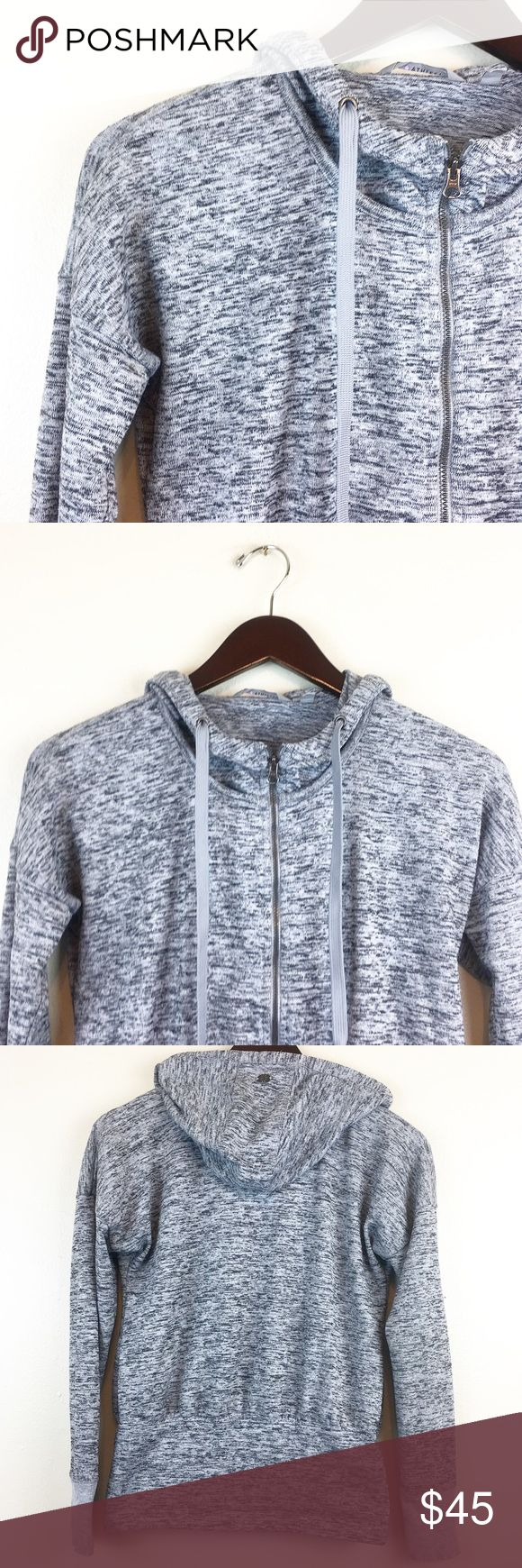 """Athleta Batwing And Robin Zip Up Gray Hoodie XXS Athleta Batwing and Robin Zip Up Hoodie Size: XXS Color: Gray/White   Measurements:  Bust - armpit to armpit laying flat: 18""""  Sleeve Length - 18.5"""" Length - taken from back of garment, top to bottom: 22.5""""  Great Pre Used Condition! HAPPY POSHING! Athleta Tops Sweatshirts & Hoodies"""