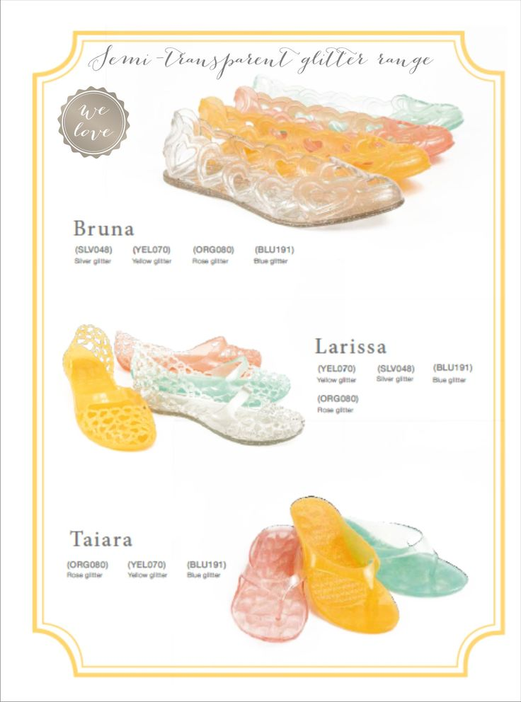 Transparent & Glitter Jelly shoes are a big trend this summer!