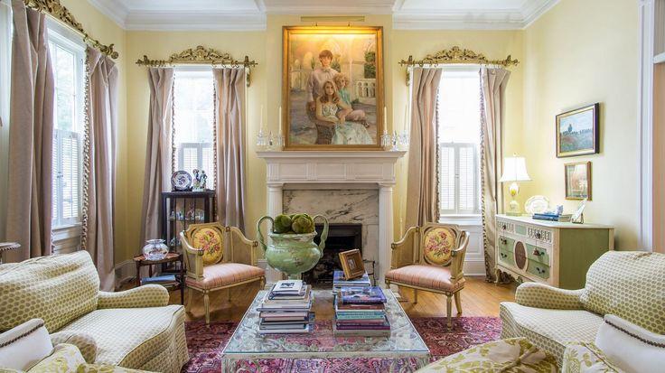 Скачать обои Картина, комод, кресла, диваны, Корпусная мебель, декор, камин…