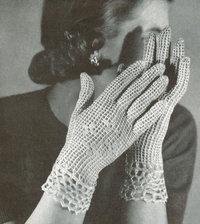 Shorties ladies crochet gloves - vintage crochet pattern
