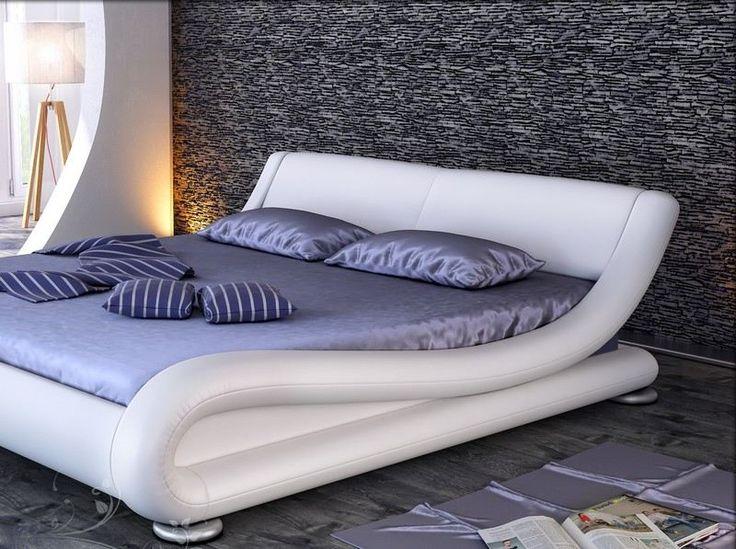 Camera da letto con bianco e grigio