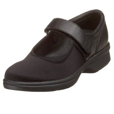 Ladies Mary Janes Shoes With Mesh Wide Fit