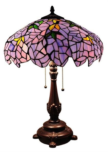 Lilac Wisteria Table Lamp