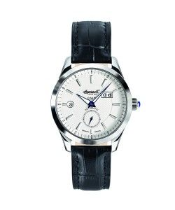 INGERSOLL Automatic Hopkins GMT Black Leather Srtrap (IN8703WH)