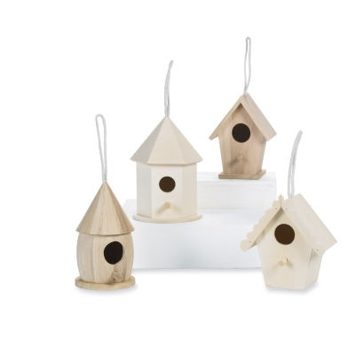 birdhouses to paint: Buffet Tables, Birdhouses Activities, Birthday Parties, Fairies Projects, Birdhouses Paintings, Birds Houses, Small Birdhouses, Unfinished Birdhouses, Baby Birdhouses