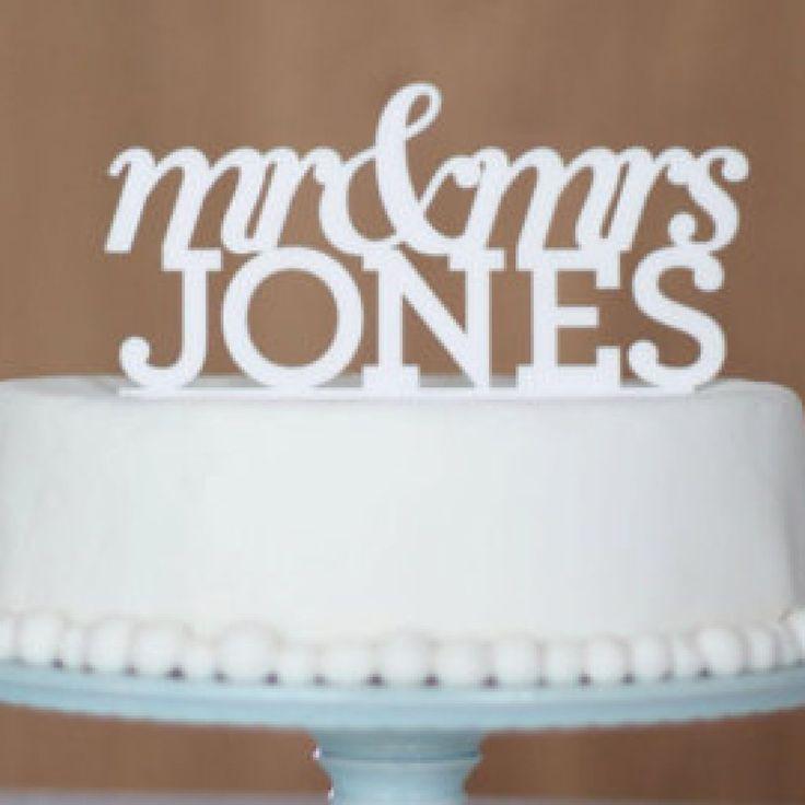 inexpensive monogram cake toppers