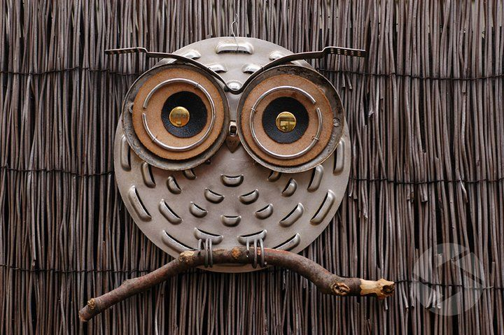 Owls made from found metal objects ~ Robyn Stewardson, Focus-On-Art