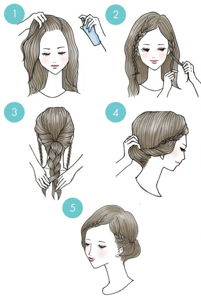 Cute braided bun hairstyle