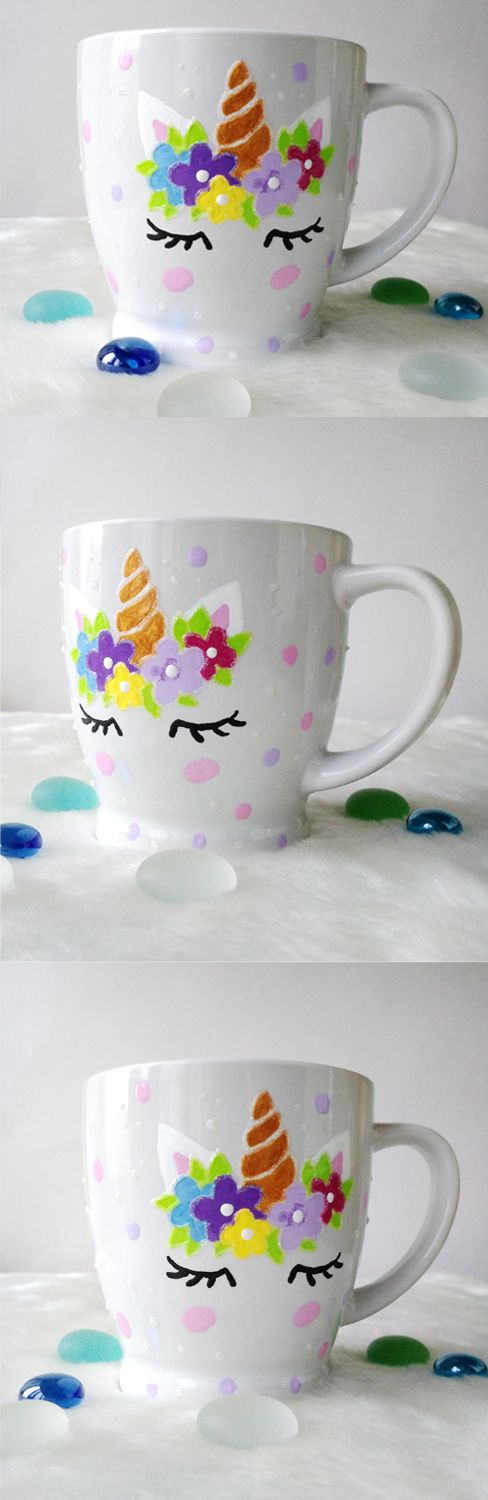 Ceramic unicorn face cup gift Small coffee cup tea cup Gift for her Custom unicorn mug Pretty cup Unicorns kids cups