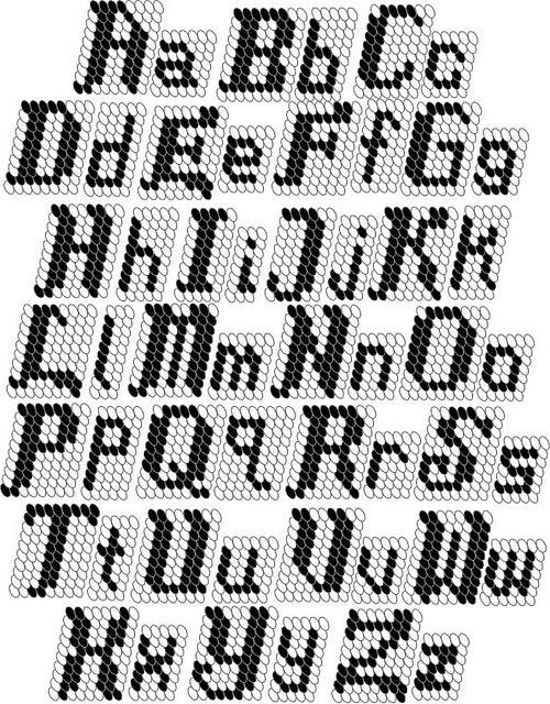filet crochet alphabet patterns free | 1747.- Tapestry crochet o jacquard con ganchillo