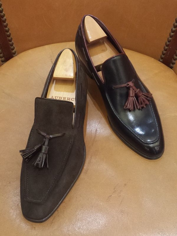 Aubercy Tassel Loafers http://www.theshoesnobblog.com/