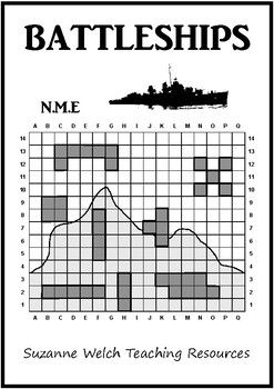 Battleships Game3 different levels.  4 different templates within each level.Great for reinforcing a math lesson on CO-ORDINATES.Level 1: 11x10 grid. 5 different forces (7 to destroy).  4 different templates. Level 2: 17x14 grid.8 different forces.4 different templates.