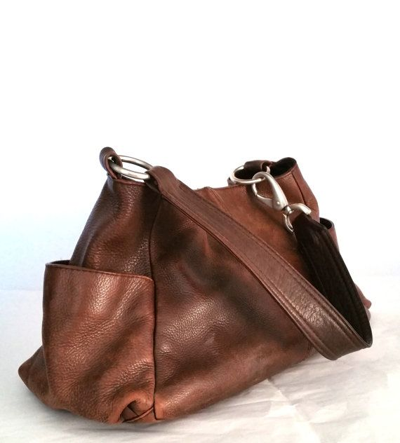 Hobo International Vintage Brown Leather Handbag by MaxonsAttic #hobo #purse #leather