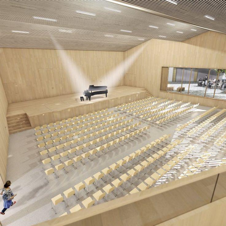 Wettbewerbsbeitrag für einen neuen Gemeindesaal in Arlesheim (BL). Konzeptstudi… – K2 Architekten