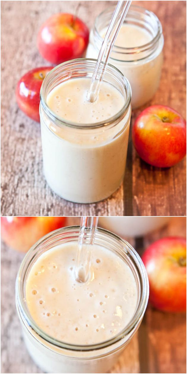 Spiced Apple Pie Smoothie (vegan, GF) - Sweet, creamy and a perfect way to use your fall apples! (And it's even healthy!)